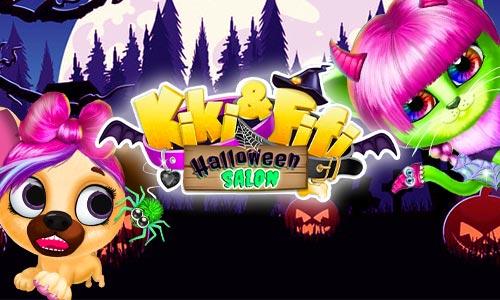 Play Kiki & Fifi Halloween Salon – Scary Pet Makeover on PC