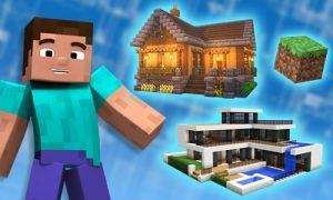 minecraft houses cabin modern