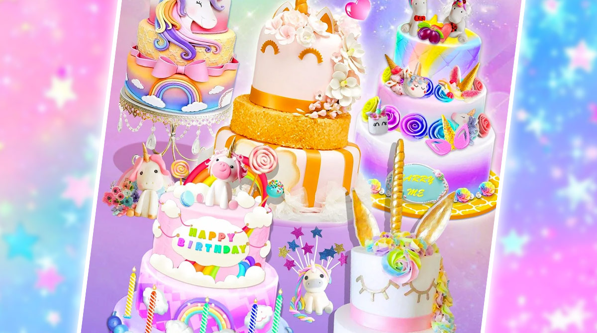 unicorn rainbow desserts bakery download PC free