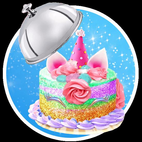 unicorn rainbow desserts bakery download free pc