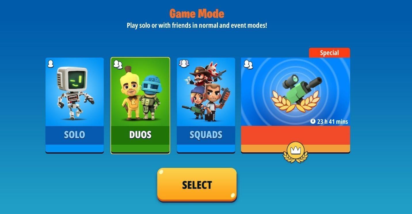 battlelands royale game modes