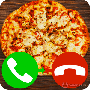 Play fake call pizza game 2 on PC