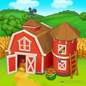 Play Farm Town: Happy village near small city and town on PC