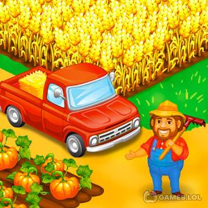 Play Farm Town: Happy farming Day & food farm game City on PC