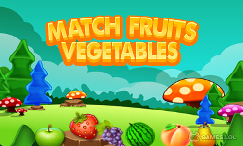 Play Match fruits vegetables on PC