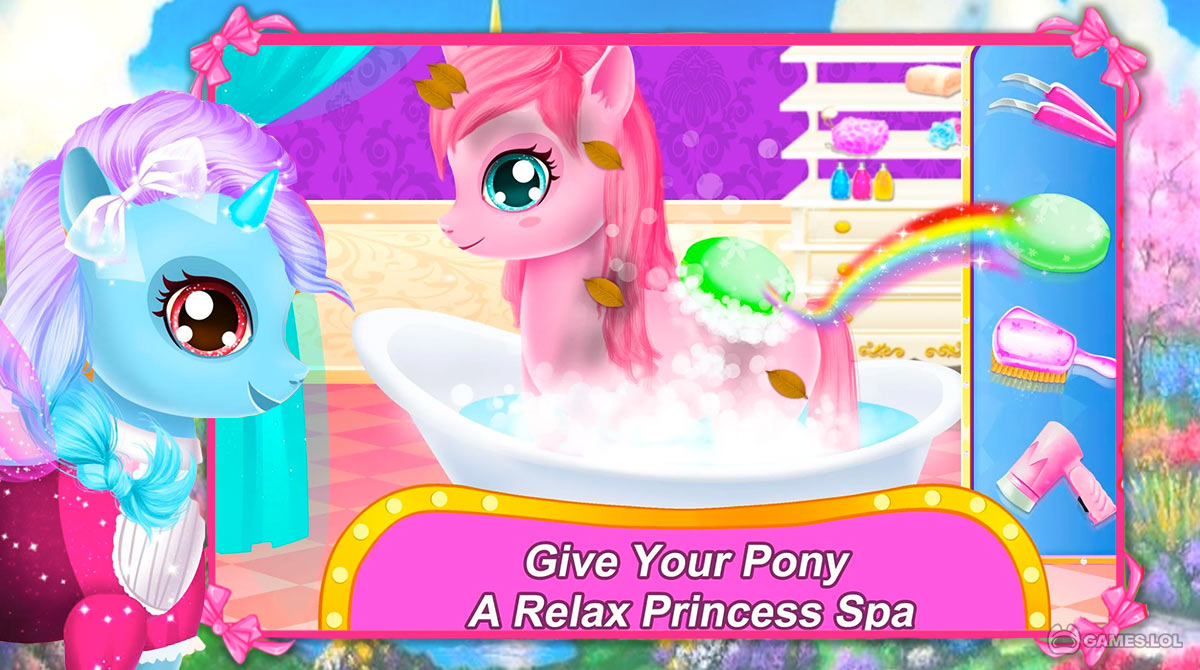 rainbow pony makeover download free