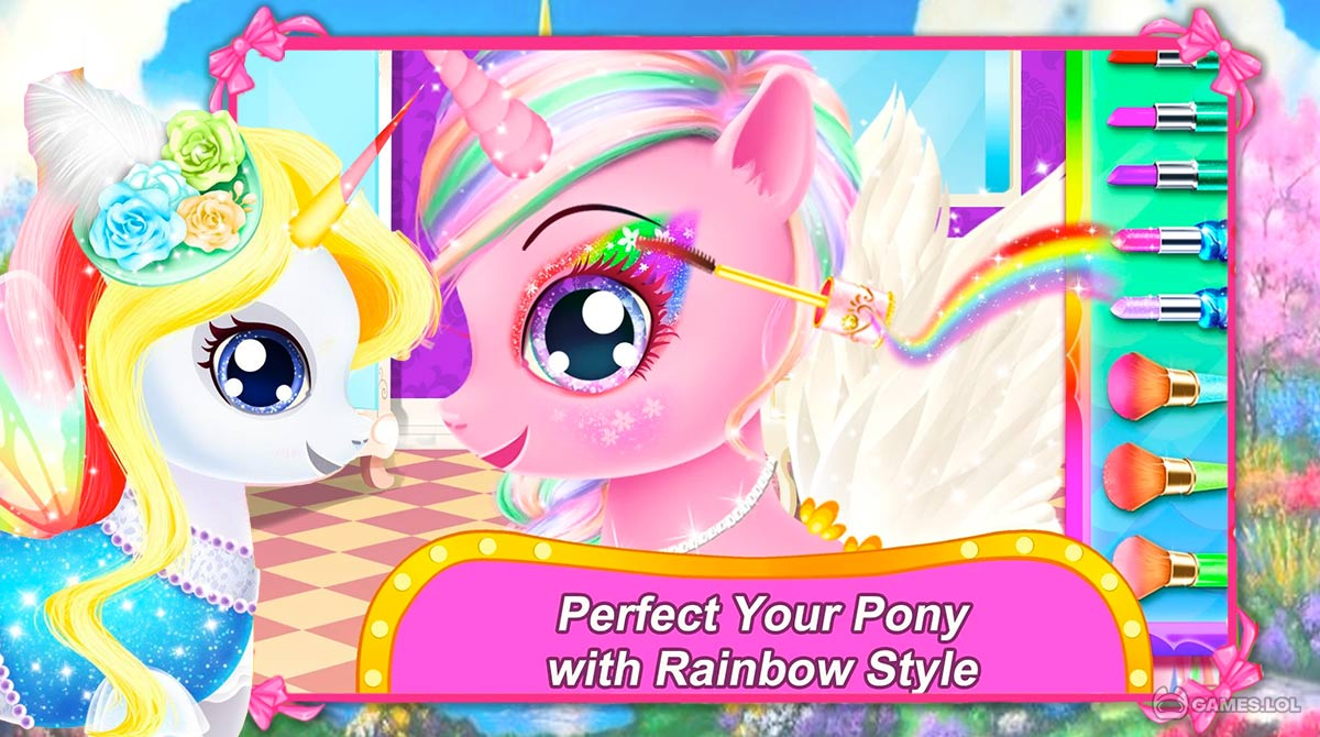 rainbow pony makeover download full version
