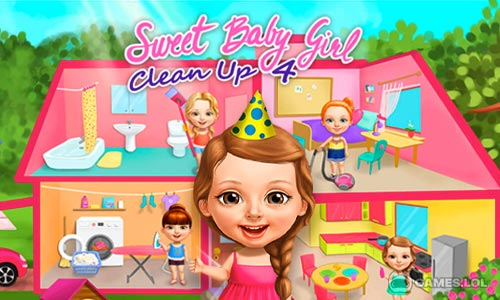 Play Sweet Baby Girl Cleanup 4 – House, Pool & Stable on PC