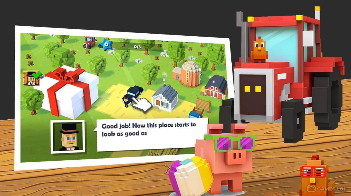 blocky farm download free