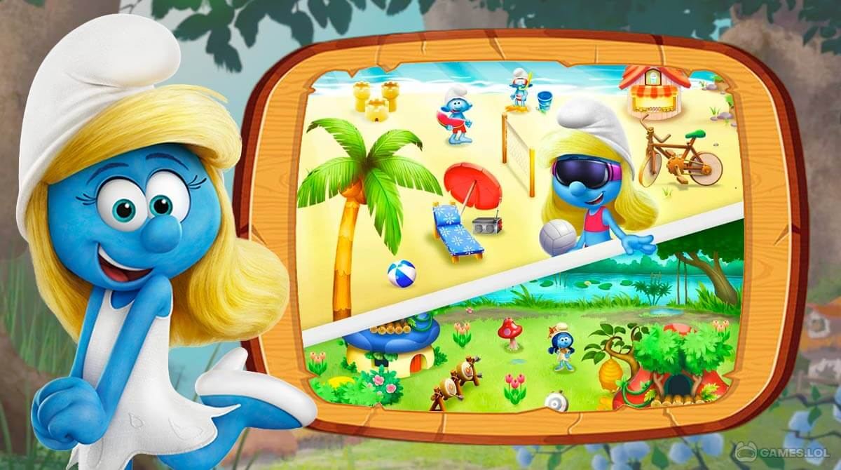smurfs bubble story download free