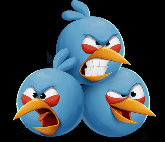 Angry Birds 2 Blue Trio
