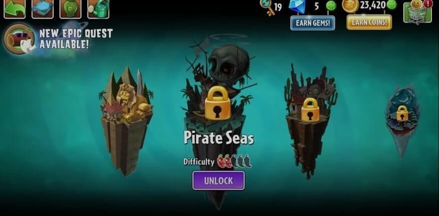 Plants Vs Zombies 2 Pirate