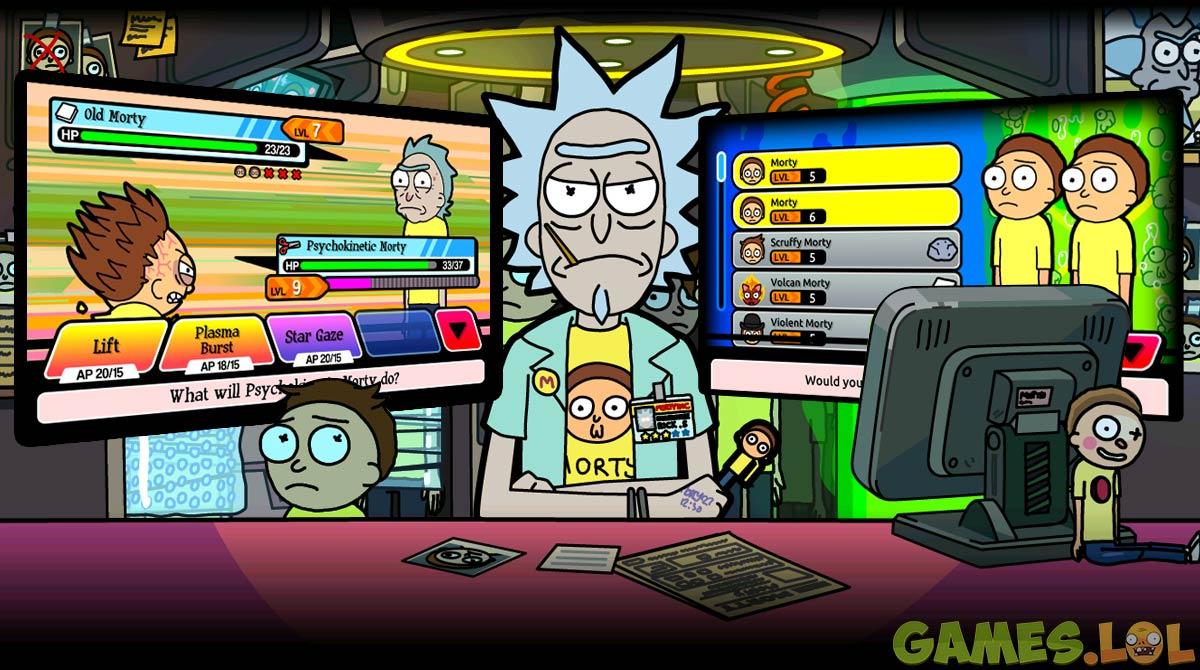 Pocket Mortys gameslol
