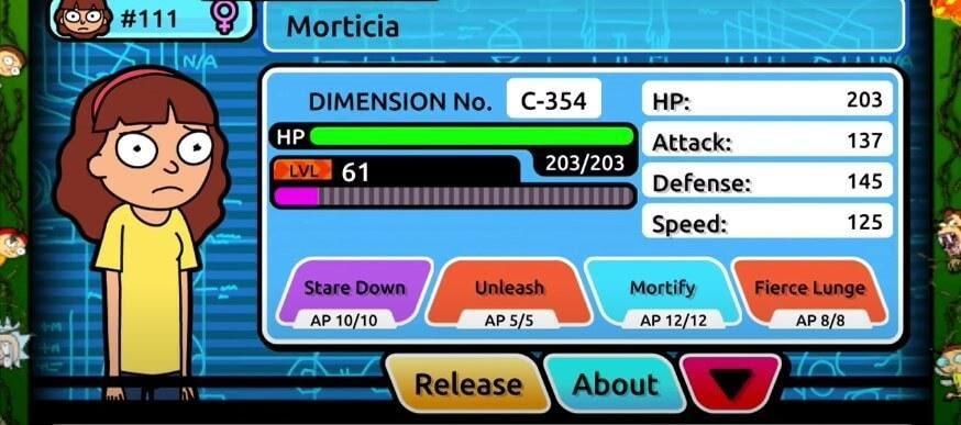 Pocket Mortys morticia