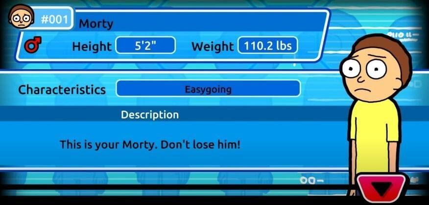 Pocket Mortys original morty