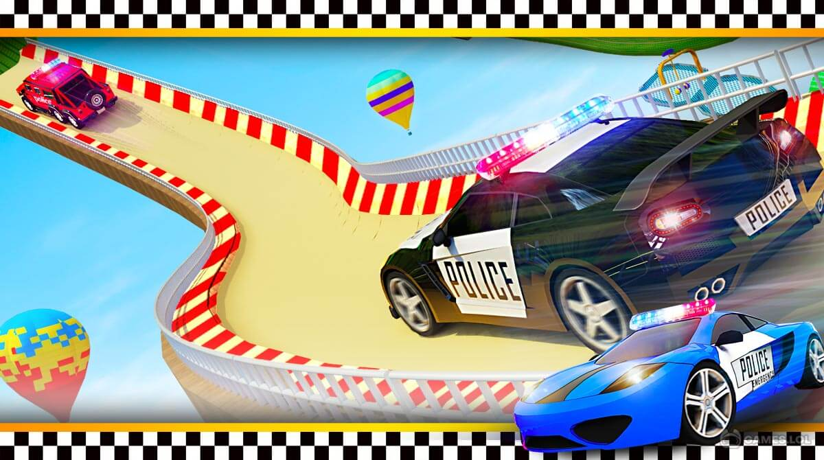 police car ramp stunts download free