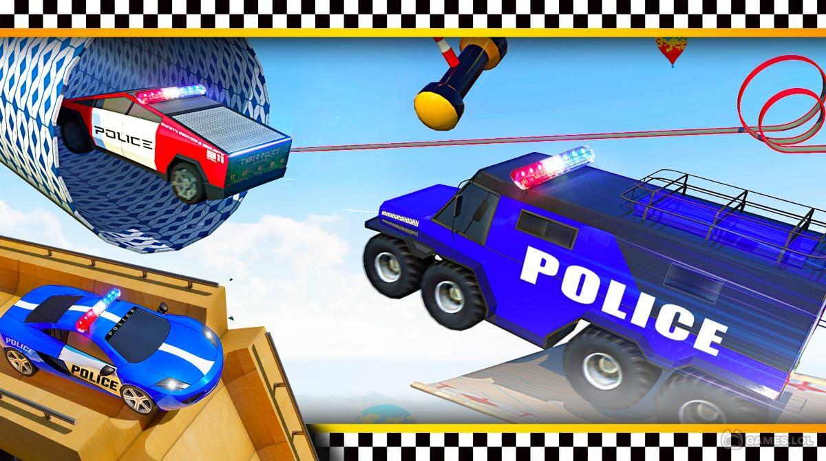 police car ramp stunts download full version