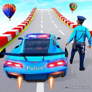 Play Police Car Ramp Stunts Race 3D on PC