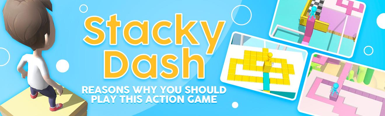 stacky dash action game header