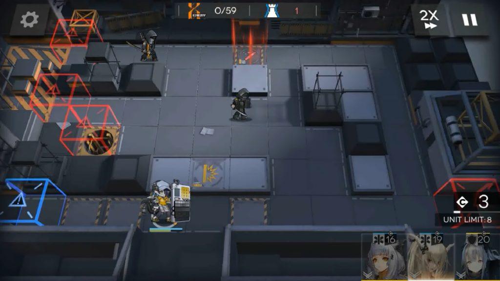 Arknights Asbestos gameplay