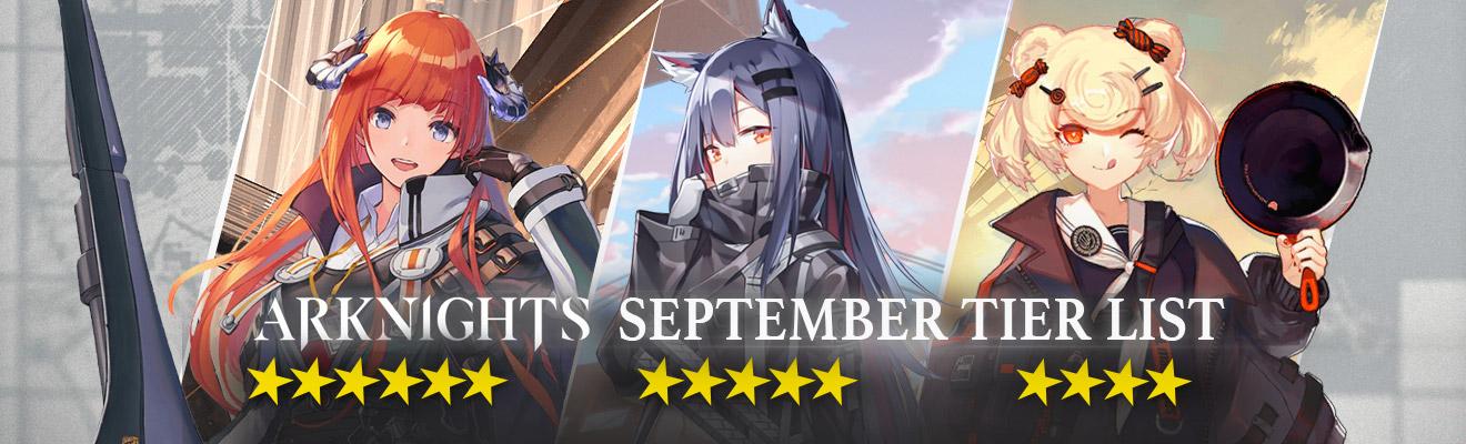 arknights september tier list hero rankings