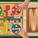 playing ludo and backgammon