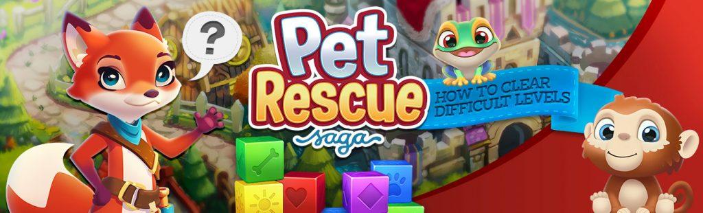 pet rescue saga difficult levels header